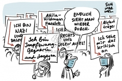 """Verfassungsschutz zu Corona-Demos: """"Rechtsextreme instrumentalisieren Proteste"""""""