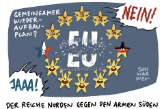 Vorschlag von Merkel und Macron: Wiederaufbau-Plan sorgt für Streit