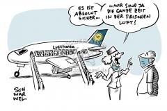 Untersuchung vor Abflug: Lufthansa will Reisenden Corona-Test anbieten