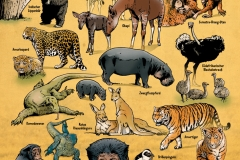 Schwarwel Glücklicher Montag Illustration Wimmelbild Tiere Zoo Leipzig