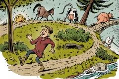 Schwarwel Glücklicher Montag Illustration Klett