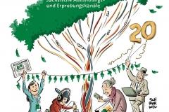 Illustration Schwarwel SAEK Medienkompetenz in Sachsen