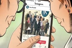 Schwarwel Glücklicher Montag Illustration Datev Social Media Instagram