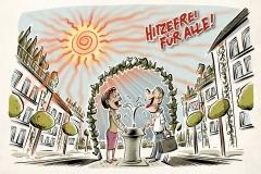 Schwarwel Glücklicher Montag Illustration Klimawandel Klimaschutz