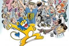 Schwarwel Glücklicher Montag Illustration Familienfreundlichkeitspreis