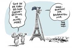 EU-Innen- und Außenministertreffen in Paris: Kein Plan für Seenotrettung