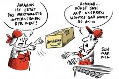 Online-Händler löst Google ab: Amazon ist wertvollste Marke der Welt