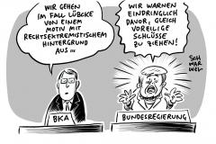 Mord an Kasseler Regierungspräsidenten: Bundesregierung warnt vor Spekulationen im Fall Lübcke