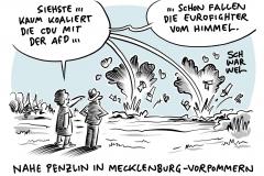 """Unfall über Mecklenburg-Vorpommern: Zwei Bundeswehr """"Eurofighter"""" kollidieren und stürzen ab"""", Koalition trotz Parteibeschluss: CDU bildet in Penzlin Zählgemeinschaft mit AfD"""