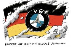 Technologien zur Abgasreinigung: BMW, Daimler und VW trafen illegale Absprachen