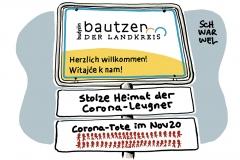 Corona-Hotspot Landkreis Bautzen: Hochburg der Verschwörungsmythen und Corona-Leugner