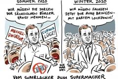 Harter Lockdown in Sachsen: MP Kretschmer stellt neue Regeln vor