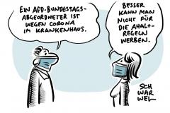 Nach Provokation im Bundestag: AfD-Abgeordneter Seitz mit Corona-Befund im Krankenhaus