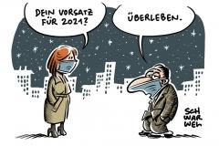 Jahreswechsel in der Pandemie:  Gute Vorsätze für 2021