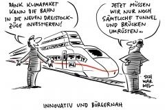 30-Minuten-Takt zwischen Städten: Bahn denkt über Doppelstock-ICE nach, Klimapaket-Durchbruch: Weg frei für günstigere Bahntickets