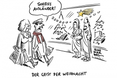 Konsumgesellschaft:  Der Geist der Weihnacht Flüchtlinge Obdachlosigkeit