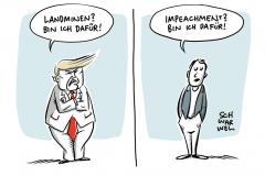 """Landminen: Trump hebt Landminen-Verbot für US-Armee auf""""  • """"Impeachment gegen Trump: Entscheidung am Mittwoch"""