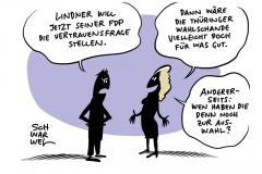 Nach Thüringen-Wahl: Kemmerich wirft hin, FDP will Neuwahlen, Lindner stellt Vertrauensfrage