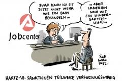 Bundesverfassungsgericht: Hartz-IV-Sanktionen teilweise verfassungswidrig