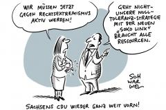 Soko LinX Linksextremismus Polizei CDU Sachsen Leipzig