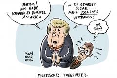 "Zweifel an CDU-Chefin AKK: Merkel spricht von ""Unsinn"""