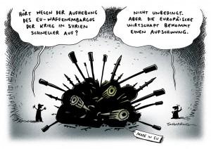 Waffenembargo Syrien Karikatur Schwarwel
