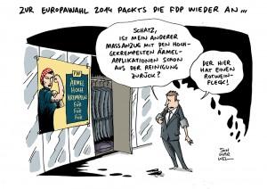 Europawahl: Parteien zeigen sich von ihrer besten Seite - Karikatur Schwarwel