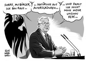 Bundespräsident: Gauck tritt nicht zu zweiter Amtszeit an