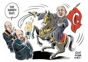 Kritik an Erdoğan wegen Drohungen gegen Abgeordnete: Bundestagspräsident Lammert mahnt, EU-Präsident Schulz schreibt Brandbrief
