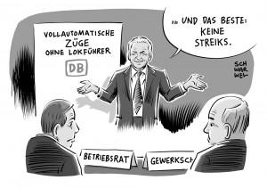 Bahn ohne Lokführer: Bahnchef Rüdiger Grube will bis 2023 vollautomatische Züge