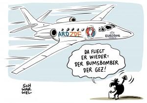 Privatjet von ARD und ZDF zur Em 2016: Verschwendung von Beitragsgeldern?