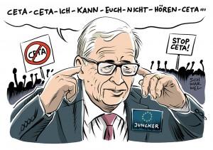 Umstrittener Handelsvertrag mit Kanada: Entsetzen über Junckers Ceta-Plan
