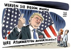 """Trump: Wenn wir Atomwaffen haben, warum setzen wir sie nicht ein?"""" Republikaner verzweifeln an ihrem Präsidentschaftskandidaten"""