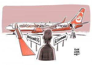 Lufthansa-Rivale: Air Berlin zettelt Klassenkampf am Himmel an