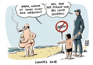 Terrorangst in Frankreich: Cannes verbietet Frauen im Burkini den Strand