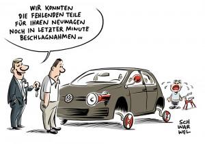 Zoff mit Zulieferer: VW kann dringend benötigte Teile beschlagnahmen