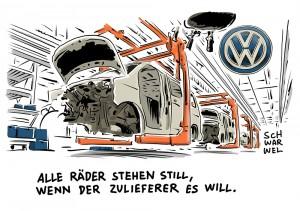VW-Streit mit Zulieferer: Zwangsurlaub für 20.000 VW-Arbeiter