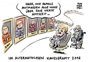 Bundeskanzlerin Merkel: Hälfte der Deutschen lehnt vierte Amtszeit ab