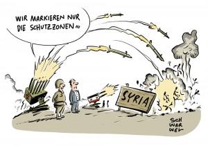 Russland, Türkei, Iran und syrische Regierung einig: Syrien soll Schutzzonen bekommen
