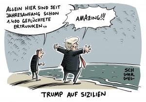 """Bilanz erster Auslandsreise von Trump: G7-Gipfel ein """"Desaster"""""""