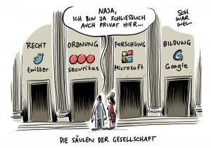 Privatisierung von Forschung und Rechtssprechung: Vorherrschaft der Tech-Konzerne