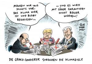 GroKo-Sondierungsgespräche: Union und SPD stellen Klimaziel für 2020 infrage