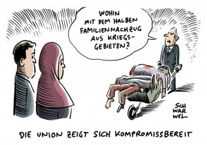 Streitthema bei den Sondierungsgesprächen: Familiennachzug für Flüchtlinge