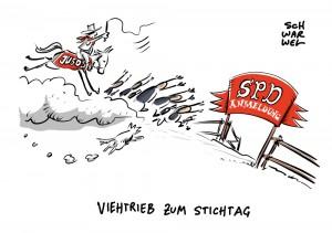 Stichtag 6. Februar:  SPD legt letzten Anmeldetag für Mitsprache fest