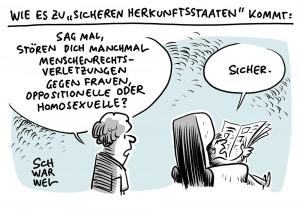 """Asylrecht: Bundestag für weitere """"sichere Herkunftsstaaten"""""""