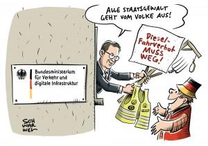 Dieselfahrverbote: Verkehrsminister Scheuer rät Städten zum Widerstand